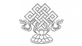 Foto tatuaje de Nudo infinito Budista