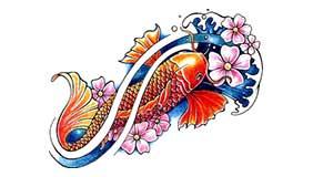 Significado tatuaje carpa koi 1 for Significado de pez koi